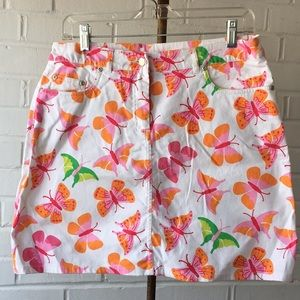 Vintage Lilly Pulitzer White Butterfly Skirt Sz 4